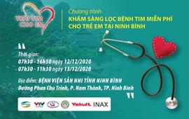 Khám sàng lọc tim bẩm sinh miễn phí cho trẻ em từ 0 - 16 tuổi tại Ninh Bình