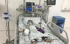 Trẻ suy hô hấp nặng do hóc xương