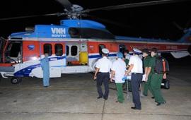 Điều trực thăng ra Trường Sa đưa bệnh nhân về đất liền cấp cứu