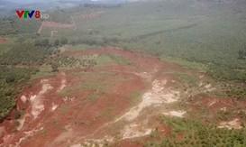 Lâm Đồng: Nhiều khu vực sụt lún hàng nghìn mét khối đất