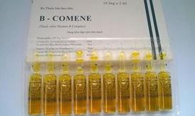 Thu hồi toàn quốc lô thuốc tiêm B-Comene không đạt tiêu chuẩn
