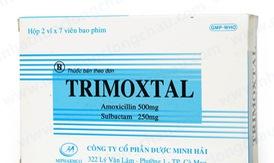 Thu hồi toàn quốc thuốc viên nén bao phim Trimoxtal 500/250