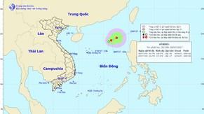 Áp thấp nhiệt đới trên biển Đông có khả năng mạnh thêm