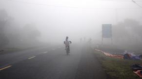 Sương mù bao phủ miền Trung vào sáng sớm