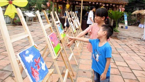Trải nghiệm mùa hè với nghệ thuật dân gian