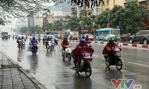 Ngày 27/12, khu vực từ Thanh Hóa tới TT - Huế có mưa do tác động của không khí lạnh