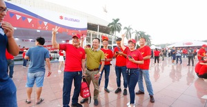 AFF Cup 2018: Các CĐV Việt Nam đến sân sớm trước trận gặp ĐT Philippines