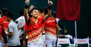 ẢNH: Thắng Qatar, ĐT quần vợt Việt Nam trở lại nhóm II Davis Cup