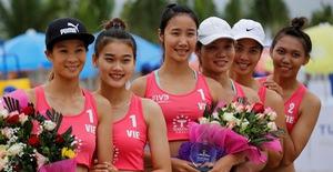 Ảnh: Những khoảnh khắc ấn tượng tại giải bóng chuyền bãi biển nữ thế giới Tuần Châu - Hạ Long 2019 ngày 09/5