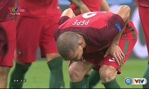 Pepe nôn trên sân ngay sau trận chung kết