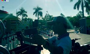 Công tác chuẩn bị hình ảnh cho chặng 8 Giải đua xe đạp quốc tế Cup Tôn Hoa Sen 2017