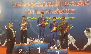 Giải đấu kiếm vô địch U23 châu Á 2017: Những tấm huy chương ấn tượng của đấu kiếm Việt Nam