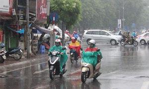 Mưa ngắt quãng ở khu vực từ Quảng Bình đến Bình Định