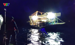 BĐBP Quảng Bình cứu thành công tàu và 5 thuyền viên gặp nạn trên biển