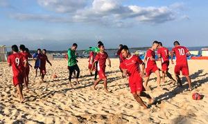 ĐT bóng đá bãi biển Việt Nam sẵn sàng cho trận ra quân tại Giải Đông Nam Á 2018