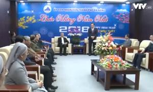 Đoàn Tòa Giám mục Giáo phận Đà Nẵng chúc Tết lãnh đạo thành phố