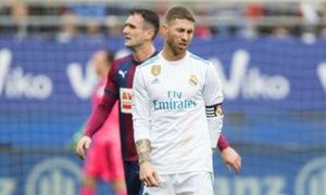 Sergio Ramos vắng mặt 5 phút trong trận đấu với Eibar