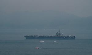 Tàu sân bay Mỹ USS Carl Vinson đã neo đậu trong vịnh Đà Nẵng