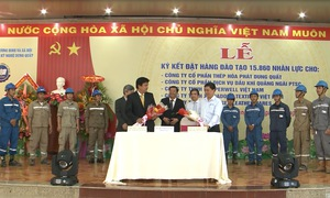 Quảng Ngãi ký kết hợp đồng đào tạo nghề cho gần 1,6 vạn lao động
