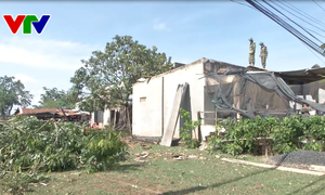Đắk Lắk: Mưa lớn kèm lốc xoáy gây thiệt hại về người và tài sản tại Ea Súp