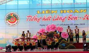 Kỷ niệm 128 năm Ngày sinh Chủ tịch Hồ Chí Minh: Hơn 700 diễn viên quần chúng tham gia Liên hoan tiếng hát Làng Sen 2018