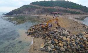 Khánh Hòa xử phạt vi phạm hành chính và yêu cầu ngừng thi công dự án Hòn Rùa