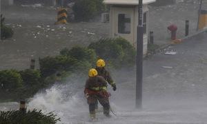 Siêu bão Mangkhut đổ bộ vào Trung Quốc