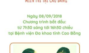 Khám sàng lọc bệnh tim bẩm sinh miễn phí tại Cao Bằng