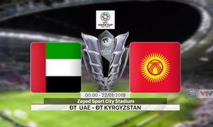 VIDEO: Highlights ĐT UAE 3-2 ĐT Kyrgyzstan (Vòng 1/8 Asian Cup 2019)