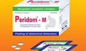 Đình chỉ lưu hành thuốc Viên nén bao phim Peridom-M không đạt chất lượng