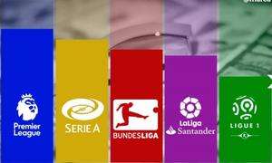 CẬP NHẬT Kết quả, lịch thi đấu, BXH các giải bóng đá VĐQG châu Âu: Ngoại hạng Anh, La Liga, Serie A, Bundesliga, Ligue I
