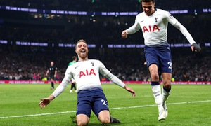 Kết quả đá bù vòng 33 Ngoại hạng Anh: Tottenham thắng tối thiểu Brighton