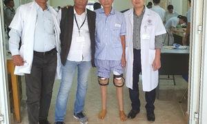 Lắp chân giả miễn phí cho người khuyết tật tại Quảng Ninh