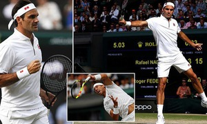 KẾT THÚC, Bán kết đơn nam Wimbledon 2019: Rafael Nadal 1-3 Roger Federer (6/7, 6/1, 3/6, 4/6)
