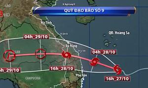 Cập nhật diễn biến bão số 9