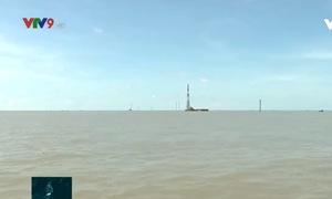 Tạm ngưng thi công 5 trụ điện thuộc Dự án điện gió Tân Thuận, Cà Mau
