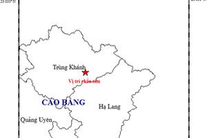 Cao Bằng liên tục 2 trận động đất