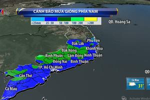 Mưa lớn tiếp diễn tại phía Nam, nguy cơ ngập lụt ở vùng trũng