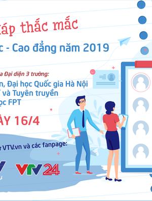 GLTT Giải đáp công tác tuyển sinh trường Đại học Quốc gia Hà Nội, Học viện Báo chí và tuyên truyền và Đại học FPT