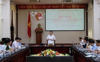 Phó Chủ tịch Thường trực UBND tỉnh Tống Quang Thìn chủ trì hội nghị của Ban Chỉ đạo Liên hoan Truyền hình toàn quốc lần thứ 40 năm 2020 tại tỉnh Ninh Bình