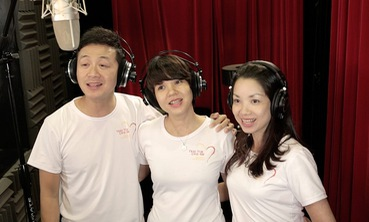 MC Anh Tuấn, Diễm Quỳnh tham gia ghi hình MV Trái tim cho em