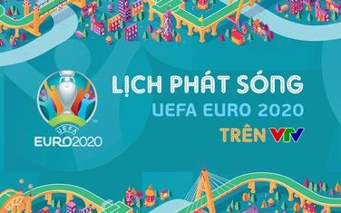 Lịch phát sóng chính thức UEFA EURO 2020 trên các kênh sóng của VTV