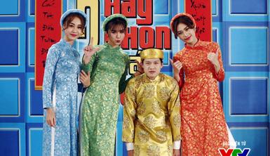 MC Trần Ngọc nhắng hết cỡ dù diện áo the khăn xếp