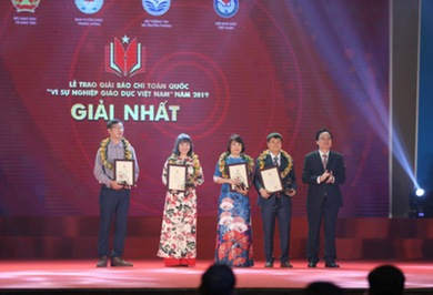 VTV won four national press awards 'For Vietnam's Education Cause 2019'
