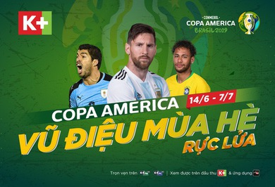 K+ officially owns the copyright of Copa America 2019 tournament