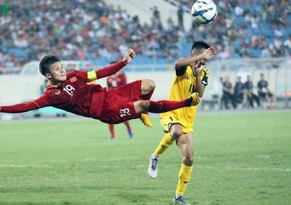Quang Hai listed among top players ahead of SEA Games 2019