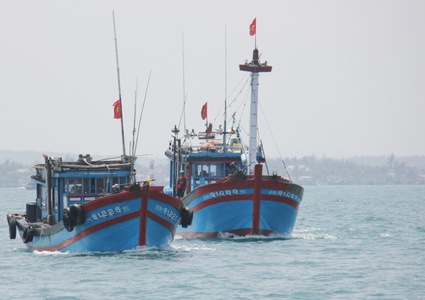 Fishermen in Quang Ngai enjoy bumper shrimp catch