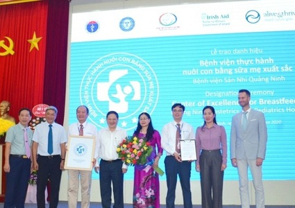 Quang Ninh obstetrics hospital named Centre of Excellence for Breastfeeding