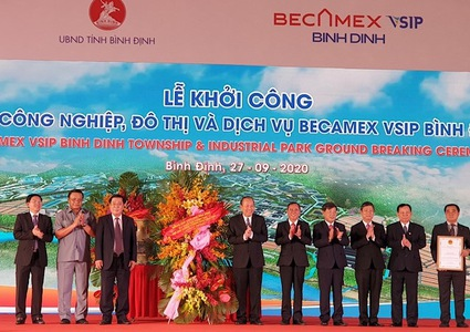 Construction of US$143-million industrial park begins in Binh Dinh