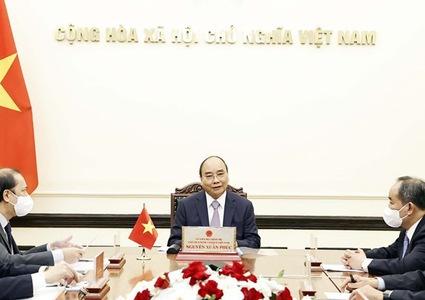 President holds online talks with Japanese Prime Minister